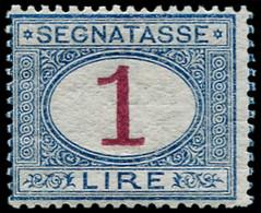 ** ITALIE - Taxe - 13, 1l. Bleu Et Carmin, Pli (Sas. 27) - Non Classificati
