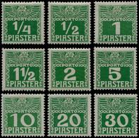 * LEVANT AUTRICHIEN - Taxe - 6a/14aA, Papier Ordinaire Mince, Complet, Très Beau - Eastern Austria