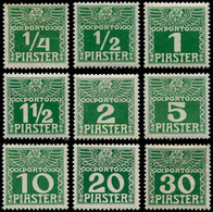 * LEVANT AUTRICHIEN - Taxe - 6a/14aB, Papier Ordinaire épais, Complet, Beaux - Eastern Austria