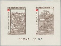 EPL ORDRE DE MALTE - Poste - 185/186, épreuve Collective De Luxe Numérotée (prova): 500ème An. Rodi - Sovrano Militare Ordine Di Malta