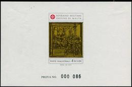 EPL ORDRE DE MALTE - Poste - 198, épreuve De Luxe Numérotée (prova): St Jean Baptiste De Siena - Sovrano Militare Ordine Di Malta