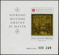 EPL ORDRE DE MALTE - Poste - F 215, épreuve  De Luxe Numérotée Sans Inscription à Droite: Noël 1982 - Sovrano Militare Ordine Di Malta