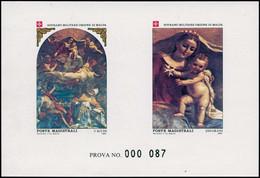 EPL ORDRE DE MALTE - Poste - 227/28, épreuve De Luxe Collective Numérotée (prova): Noël 1984 - Sovrano Militare Ordine Di Malta