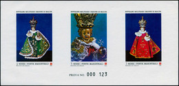 EPL ORDRE DE MALTE - Poste - F 264, épreuve De Luxe Numérotée (prova): Noël 1986 - Sovrano Militare Ordine Di Malta