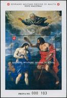 EPL ORDRE DE MALTE - Poste - F 447, épreuve De Luxe Numérotée (prova): St Jean Baptiste - Sovrano Militare Ordine Di Malta