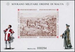 EPL ORDRE DE MALTE - Poste - F 449, épreuve De Luxe Numérotée (prova): Forteresse Rhodes - Sovrano Militare Ordine Di Malta