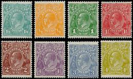 ** AUSTRALIE - Poste - 50/57 A (le 55 *), Complet 8 Valeurs: George V Et Animaux - Unclassified