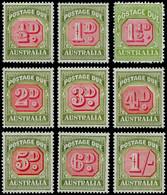 ** AUSTRALIE - Taxe - 62/68 (sauf 67 A), 8 Valeurs 1946/52 - Unclassified