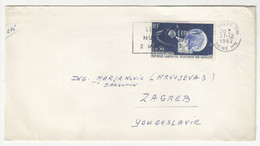 Ray Charles Cinderella Sticker On Letter Cover Posted 1962 To Yugoslavia B211015 - Briefe U. Dokumente