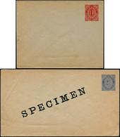 N CAIMANES - Entiers Postaux - 3 Enveloppes Différentes 1p. Rouge (x2), 2.50 Bleu, Dont Une Spécimen (1909) - Cayman Islands
