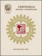 (*) CHILI - Blocs Feuillets - Bloc Feuillet Non émis Type Yvert Pa. 202: 10c. Rotary 1960 - Cile
