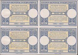 * CHILI - Coupons Réponse - Bloc De 4 Non émis, Provenant De L'album UPU 1947: Pesos 2,80 - Cile