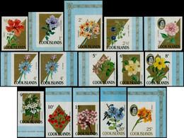 ** COOK - Poste - 137/55, Complet 19 Valeurs Non Dentelées: Fleurs Et Elizabeth - Cookeilanden