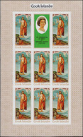 ** COOK - Poste - 222/25, 4 Feuillets De 8 Non Dentelés + 1 Vignette: Pâques 1979, Tableaux - Cookeilanden
