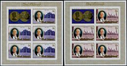 ** COOK - Poste - 403/07, 5 Feuillets De 5 Non Dentelés + 1 Vignette: Churchill - Cookeilanden