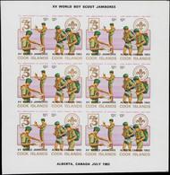** COOK - Poste - 702/09, 4 Feuillets De 6 Paires Non Dentelées: XVème World Jamboree, Scouts - Cookeilanden