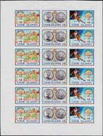** COOK - Poste - 1010/12, Feuille De 6 Triptyques Non Dentelés: Jeux Olympiques De Barcelone Et Albertville 1992 - Cookeilanden
