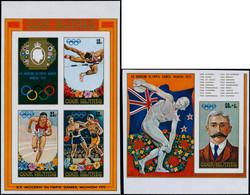 ** COOK - Blocs Feuillets - 15/16, Non Dentelés: Coubertin, Jeux Olympiques Munich 72 - Cookeilanden