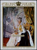 ** COOK - Blocs Feuillets - 23, Non Dentelé: 20ème An. Règne Elizabeth - Cookeilanden