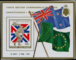** COOK - Blocs Feuillets - 31, Non Dentelé: Jeux Commonwealth, Discobole - Cookeilanden