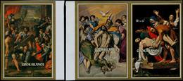 ** COOK - Blocs Feuillets - 33/35, Non Dentelés: Pâques 1974, Peintures - Cookeilanden