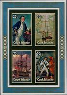 ** COOK - Blocs Feuillets - 89, Non Dentelé: Bicentenaire James Cook - Cookeilanden