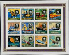 ** COOK - Blocs Feuillets - 90, Non Dentelé (tirage 30): R. Hill, Concorde, Zeppelin - Cookeilanden