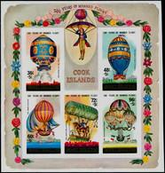 ** COOK - Blocs Feuillets - 144, Non Dentelé: Montgolfières Et Ballons - Cookeilanden