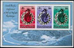 ** COOK - Blocs Feuillets - 157, Non Dentelé: Conférence Pacific, Hippocampe - Cookeilanden