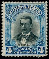 ** COSTA RICA - Poste - 51, Non émis (bleu Et Noir), Dentelé, Gomme Irrégulière: 4c. JM. Canas - Costa Rica