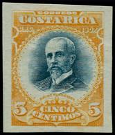 (*) COSTA RICA - Poste - 58, Non Dentelé: 5c. Fernandez - Costa Rica