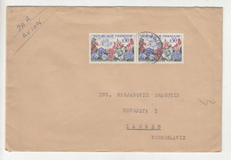France Letter Cover Posted 1963 To Yugoslavia B211015 - Briefe U. Dokumente