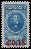"""* COSTA RICA - Poste Aérienne - 145A, Non émis """"15c. S. 25c. Bleu"""" (sur Timbre Yvert Pa. 108): A. Esquivel - Costa Rica"""