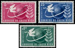 "* COSTA RICA - Poste Aérienne - 185/87, Surcharge Violette ""spécimen"": 75ème An. UPU - Costa Rica"