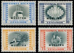 "* COSTA RICA - Poste Aérienne - 250/53, Surchargés ""Muestra"": Industries - Costa Rica"