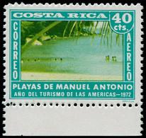 ** COSTA RICA - Poste Aérienne - 546, Sans Couleur Brun (+ Normal): 40c. Place Antonio - Costa Rica