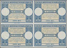 * COSTA RICA - Coupons Réponse - Bloc De 4 Non émis, Provenant De L'album UPU 1947: 35 Centimos - Costa Rica