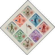 """** DOMINICAINE - Blocs Feuillets - 8C, Non émis (surcharge """"+2c""""), Non Dentelé, Quelques Pièces Connues: Baden-Powell, J - Dominican Republic"""
