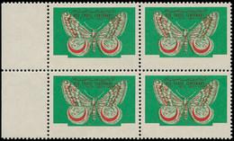 ** DUBAI - Poste - Michel 29, Bloc De 4, Sans Impression Des Valeurs & Légende: Papillon - Dubai