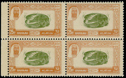 ** DUBAI - Taxe - Michel 8, Bloc De 4, Impression Recto & Verso à L'endroit: 25np. Coquillage - Dubai