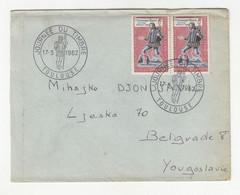 France Letter Cover Posted 1962 To Yugoslavia - Journee Du Timbre Postmark B211015 - Briefe U. Dokumente