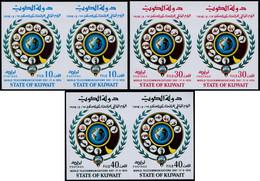 ** KUWAIT - Poste - 615/17, 3 Paires Non Dentelées (tirage 150): Télécom, Téléphone - Kuwait