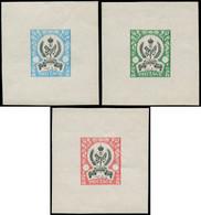 EPA LIBYE - Poste - 145, Type Non émis (légendes Différentes), Bicolores, Série De 3 épreuves Différentes Sans Faciales: - Libië