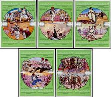 ** LIBYE - Poste - 815/34, Complet, 5 Blocs De 4 Non Dentelés: Jeux Nationaux 1980 - Libië