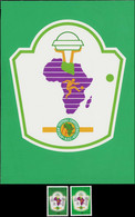 """MAQ LIBYE - Poste - 1023, Maquette Originale à La Gouache (185x250), Cachet Au Dos """"Siala"""": Football Cup Africa 82- Uniq - Libië"""