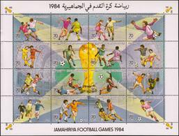 ESS LIBYE - Poste - 1379/94, Série De 12 Blocs D'essais De Couleurs Différents, Dentelés: Football 1984 (+200 Essais) - Libië