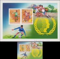 """MAQ LIBYE - Blocs Feuillets - 70, Maquette Originale à La Gouache (300 X 220), Signée, Cachet Au Dos """"Siala"""": Football,  - Libië"""