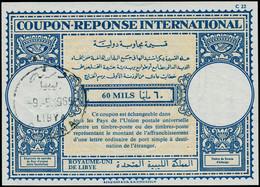 O LIBYE - Coupons Réponse - Coupon International 60m. (Derna 9/5/65) - Libië