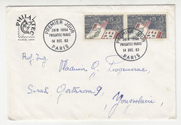 Philatec 1964 Letter Cover Posted 1963 To Yugoslavia - FDC B211015 - Briefe U. Dokumente