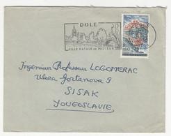 Dole - Ville Natale De Pasteur Slogan Postmark On Letter Cover Posted 1965 To Yugoslavia B211015 - Briefe U. Dokumente